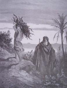 Abraham et Isaac portant le bois du sacrifice