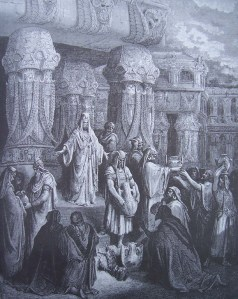 Cyrus rendant les vases du Temple de Jérusalem