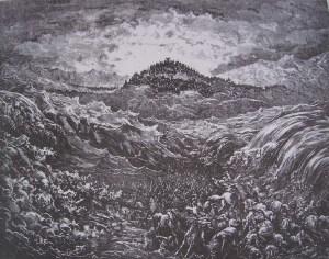 L'armée de Pharaon engloutie dans la mer Rouge